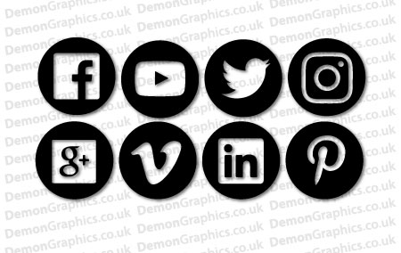 Social Media Icon Sticker Pack
