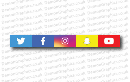 All Social Media Logos Sticker