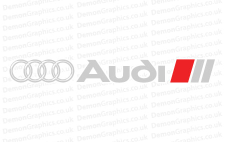 Audi S Line Rings Sticker