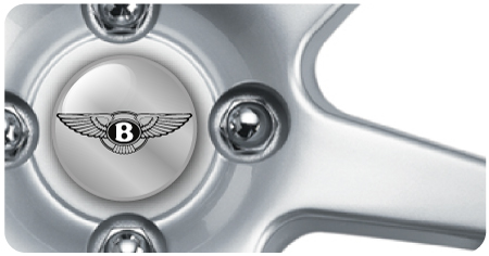 Wheel Centre Badges - Bentley 1 (set of 4)