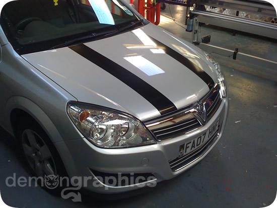 Bonnet Stripes  Car Graphics By Demon Graphics Makers Of High - Graphics for car bonnets