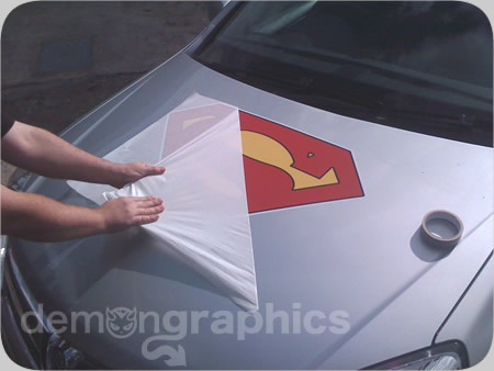 Fitting car stickers superman 5