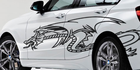 Dragons Car Graphics By Demon Graphics Makers Of High Quality - Vinyl decals for cars uk