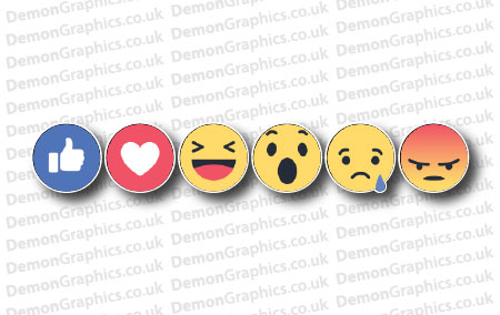 Facebook Reaction Buttons Sticker