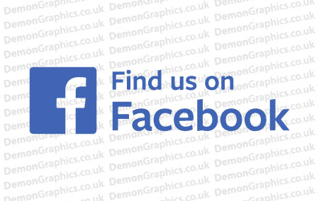 Find Us On Facebook Sticker