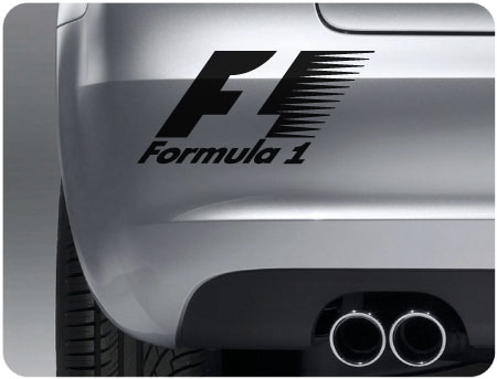 Formula 1 sticker pair of