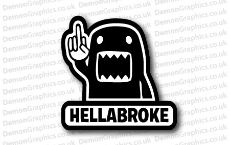 Hellabroke JDM Sticker