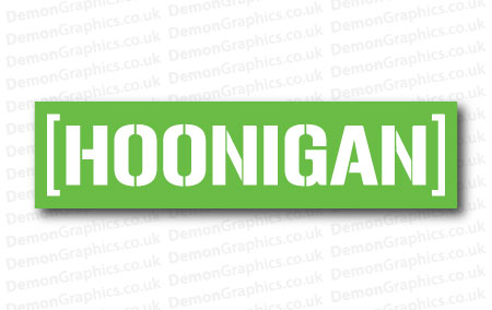 Hoonigan 1 Sticker
