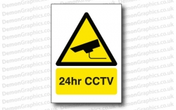 24hr CCTV Sticker or Sign