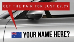 Australia Rally Tag £9.99 for both sides