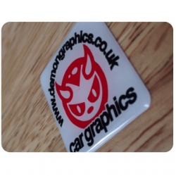 Demon Graphics Domed Sticker