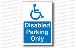 Disabled Parking Only Sticker or Sign