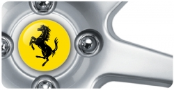Wheel Centre Badges - Ferrari 2 (set of 4)