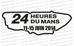 Le Mans 2014 Sticker