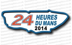 Le Mans 24 Track 2014 Sticker