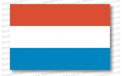 Luxembourg Flag (Pair)