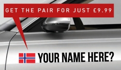 Norway Tag £9.99 for both sides