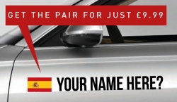 Spain Rally Tag £9.99 for both sides