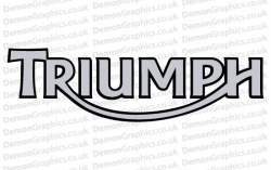 Bike Decal (Pair of) Triumph 4