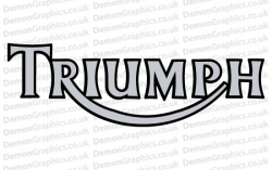 Bike Decal (Pair of) Triumph 6