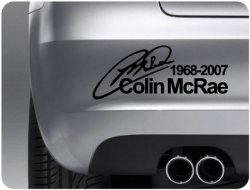 Colin McRae Signature Sticker (pair of)