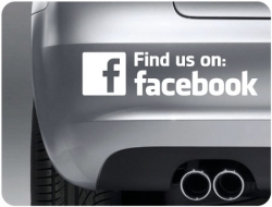 Find Us On Facebook (pair of)