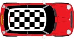 Mini roof - Chequer flag