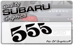Subaru 555 Graphic (pair)