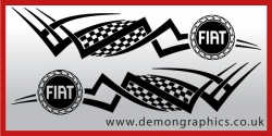 Logo tribal : Fiat £19.99 both sides