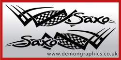 Logo tribal : Saxo £19.99 both sides