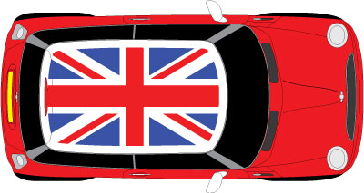 Mini roof - Union jack