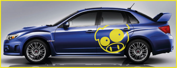 Subaru Pig Side Graphics