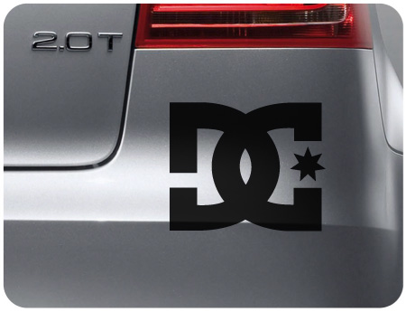 DC sticker (pair)