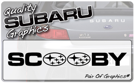 Subaru Scooby 2 Graphic (pair)