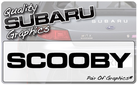 Subaru Scooby 1 Graphic (pair)