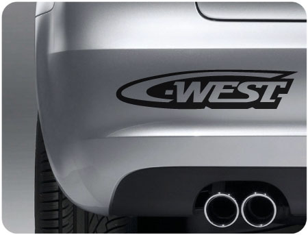 West sticker (pair)