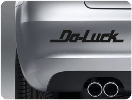 do luck sticker (pair)
