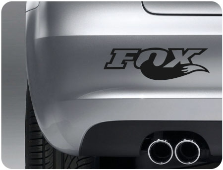 fox sticker (pair)