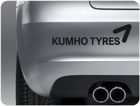 kumho tyres sticker (pair)