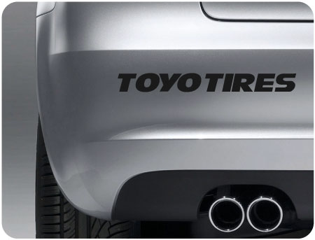 toyo tires sticker (pair)