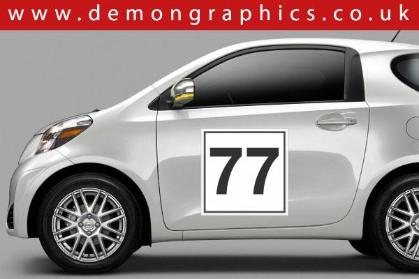 Door Numbers Car Graphics By Demon Graphics Makers Of High