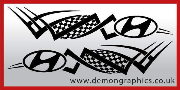 Logo Tribal Hyundai GBP1999 Both Sides