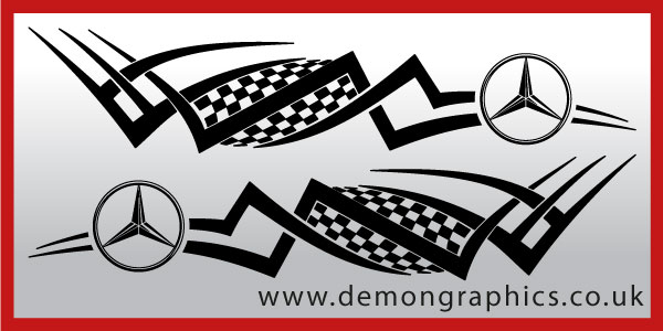 Logo tribal mercedes both sides logo tribal for Mercedes benz logo decals stickers
