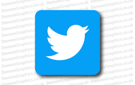 Twitter Logo Sticker