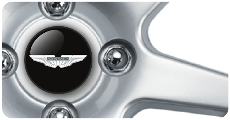 Wheel Centre Badges - Aston Martin (set of 4)