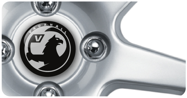 Wheel Centre Badges - Vauxhall NEW (set of 4)